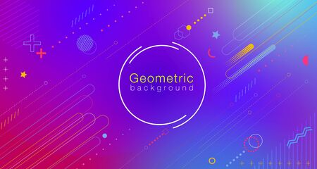 Colorful abstract geometric gradient background gives the feeling of movement using minimal graphics, Applicable for banners, flyers, flyers, posters, flyers, brochures, web etc. Stock Illustratie