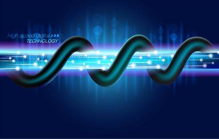 Tecnologia digitale in fibra ottica ad alta velocità Nel futuro dell'accesso a grandi trasferimenti di dati Con l'ultimo cavo potente.