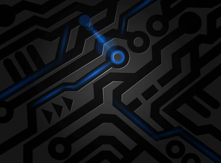 Black pattern digital abstract technology background. Vector