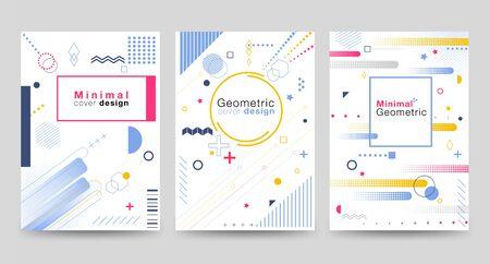 Diseño de portada minimalista con formas geométricas sobre el fondo blanco Moderno, hermoso, simple y limpio. Utilizar en pancartas, carteles, volantes, folletos, libros, etc. Plantilla de diseño vectorial.