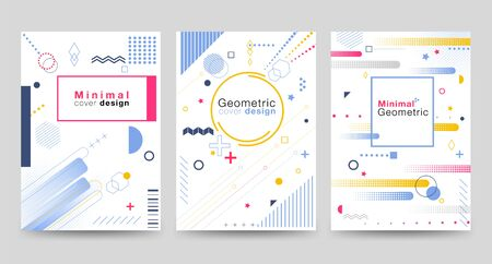 Minimalist cover design with geometric shapes on the White Background Modern, beautiful, simple and clean. Use in banners, posters, flyers, brochures, books etc. Vector design template.