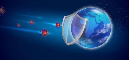 Save the world prevent the Covid 19 virus. Realistic file.