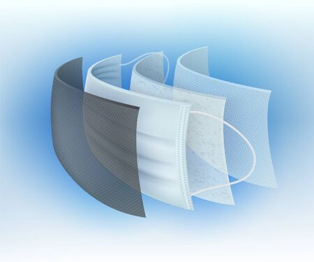 Multi-layer surgical protective mask filter Prevent germs and dust, viruses, bacteria, dust, saliva, odor For safety and good hygiene