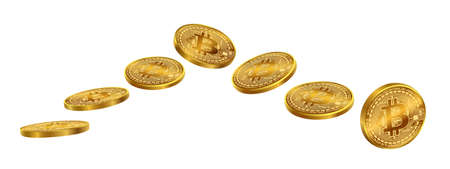 Bitcoins coin isolate on white background. EPS file.