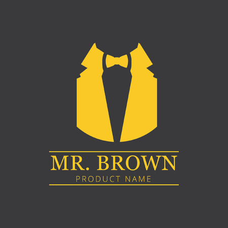 fashion design: mr brown fashion label, icons, design element