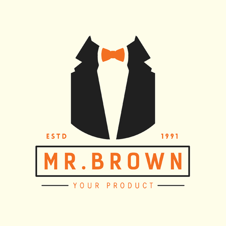 mr: mr brown fashion label, icons, design element