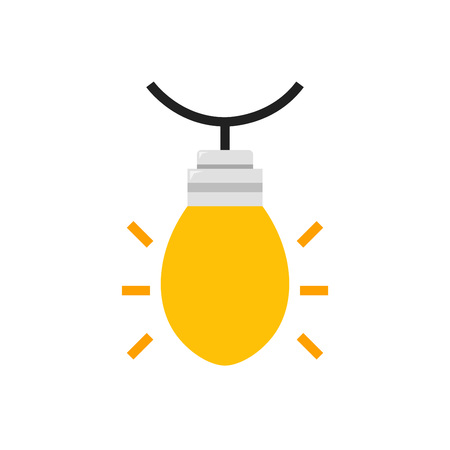christmas lamp icon design with white background. flat design style. vector illustration