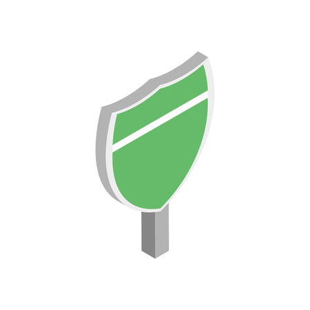 off interstate route shield road sign icon. isometric vector illustration on white background. Ilustração