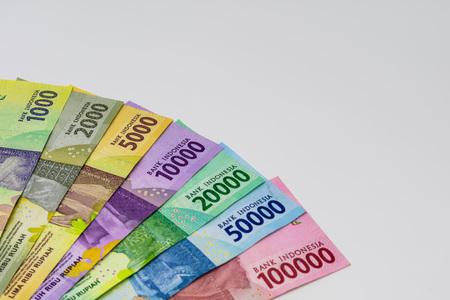 Closeup shot of Indonesia Rupiah banknotes. Stock Photo