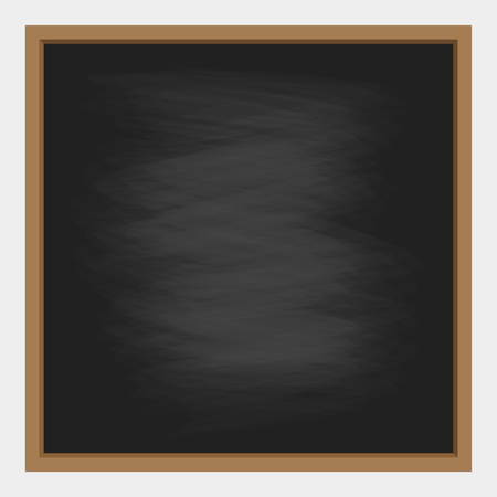 empty black chalkboard background with frame. vector illustration for education and school design. Illustration