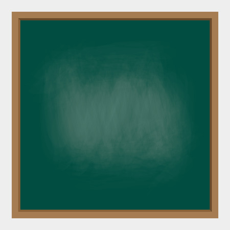 empty teal chalkboard background with frame. vector illustration for education and school design. Illustration