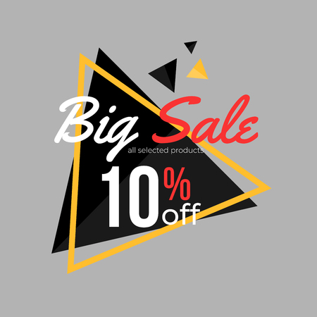 10% discount super sale banner template design for poster, flyer, shop, online store promotion.  Marketing Ad. Vector Modern Illustration. Illustration