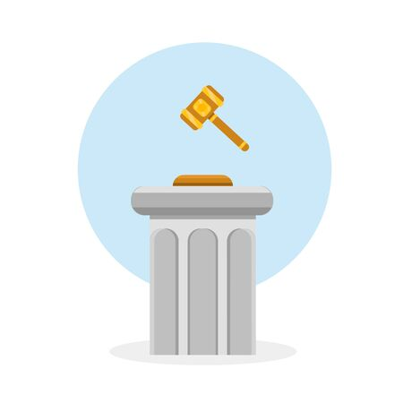 Icon for lawyer firm. Law and justice.