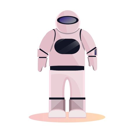 Space Astronaut, spaceman, Space suit provide mobilityfunctionality investigate universe Explorer cosmic outfit garment for exploration spacewalks. Modern vector flat gradient isolated on white.