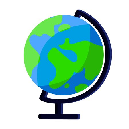 Earth globe for school office supplies, stationery