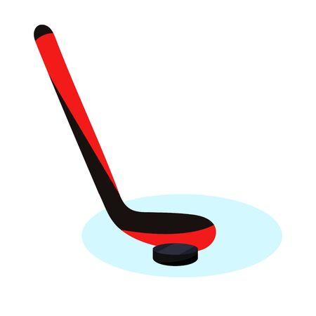 Hockey player set. Modern flat cartoons style vector illustration icons. Isolated on white. Hockey. Hockey equipment. Foto de archivo - 128940626