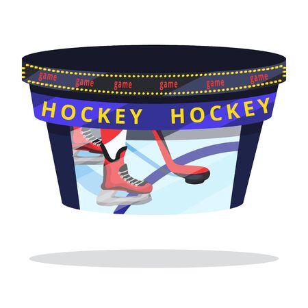 Hockey player set. Modern flat cartoons style vector illustration icons. Isolated on white. Hockey. Foto de archivo - 128941097
