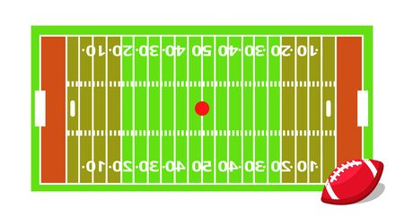 American football sport set. Flat cartoons vector illustration icons on white background. American football