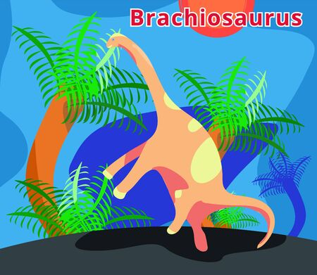 Dinosaurs set.Dino collection.Flat cartoons illustration.
