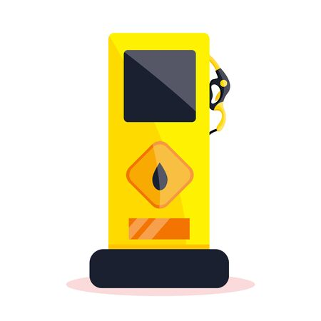 Petrol gas service station set. Flat vector illustrations icon. Isolated on white. Foto de archivo - 129203897