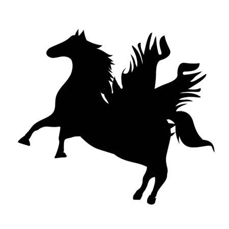 Fantastyczne stworzenia bestii. Zestaw mitycznych, mitologicznych stworzeń, zwierząt. Ilustracja wektorowa płaski kreskówka na białym tle. Ilustracje wektorowe