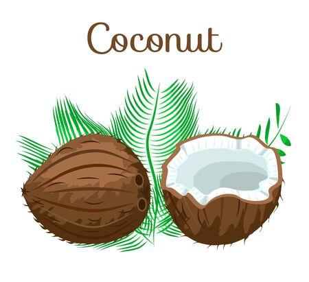 Set of nuts poster Flat cartoon vector illustration on white. Stockfoto - 131795403