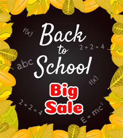 Welcome back to school banner,poster with colorful school supplies,education tools,bag,book.