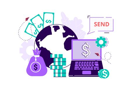 Vector digital currency exchange, finance, digital money market, cryptocoin wallet, stock exchange, online money transfer. Flat style modern design vector illustration for web page, cards, poster.