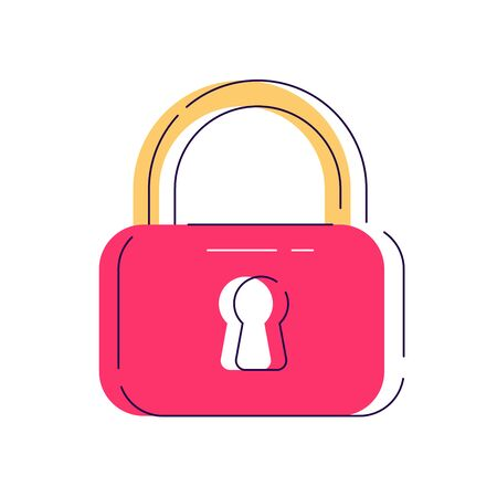 Locker icon, vector padlock symbol. Key lock illustration privacy and password icon. Safety and security protection with locked secure mechanism locking system illustration isolated on background