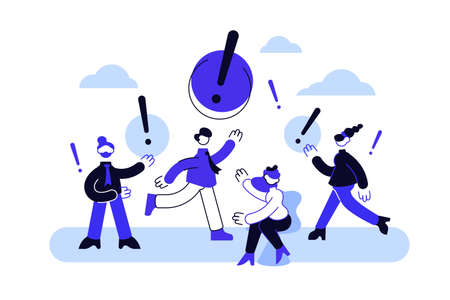 Vector illustration of people communication in search of ideas.