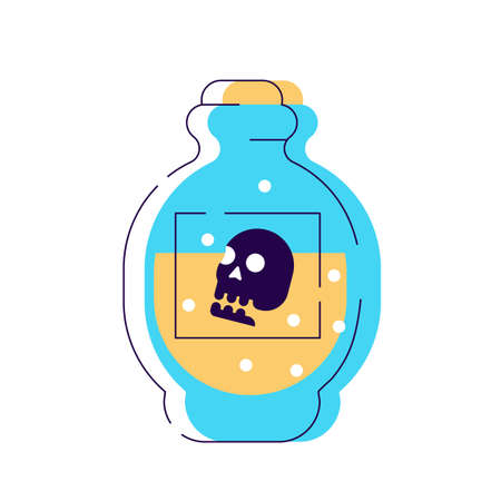 Poison bottle icon  isolated sign symbol