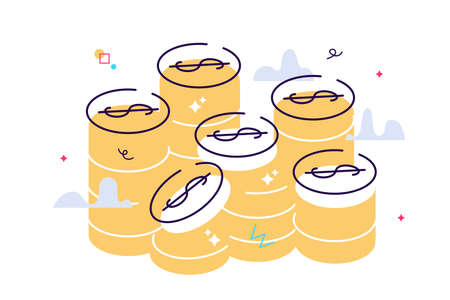 Hands holding coins and putting them into money box. Concept
