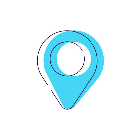 Location mark icon vector modern flat sign