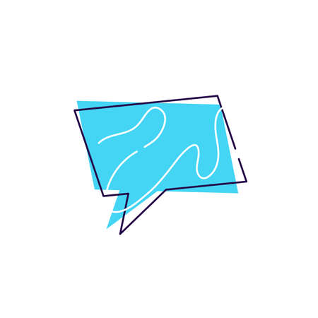 Chat speech bubbles icon flat sign