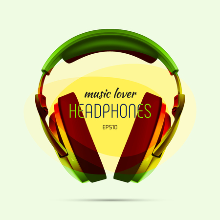 ear phones: very realistic headphones for your design. Illustration