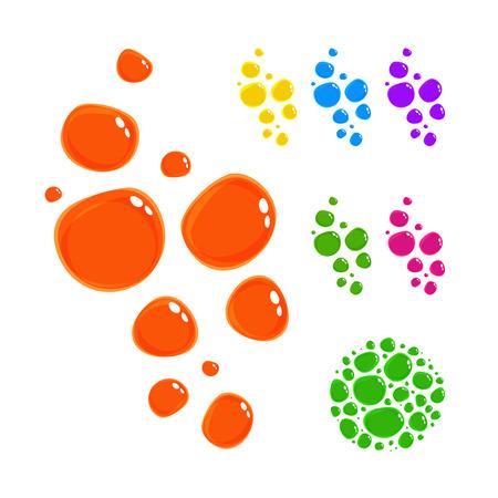 bright: Bright colour drops. Illustration