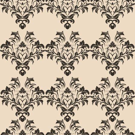 modèle sans couture de vecteur de romance beige. Motif pour carreaux de rideaux pour papier peint et vêtements. Impression d'éléments floraux.EPS 10 Vecteurs