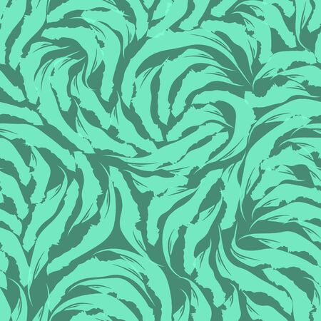 Abstract shapes seamless pattern. Texture for fabrics or wrapping paper. Grunge texture Aqua Menthe colors on a turquoise background.