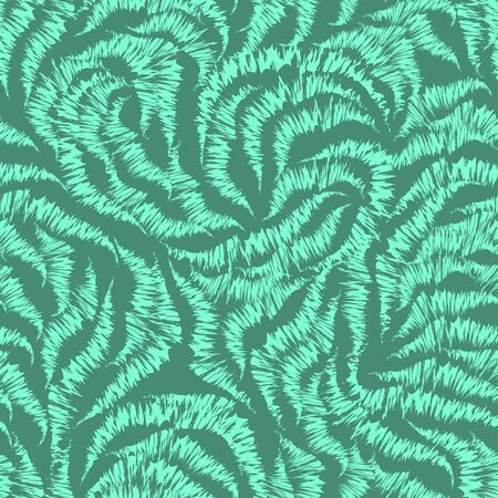 Seamless Aqua Menthe color texture from randomly drawn lines by the handle. Pattern for curtain fabrics or packaging