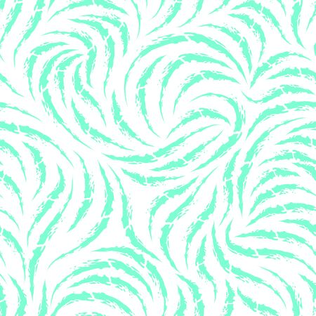 Seamless vector pattern of smooth lines of chalk or coal in trendy Aqua Menthe color. Texture for fabric or packaging isolated on white background 向量圖像