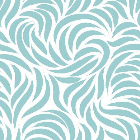Seamless pattern of flowing lines or brush strokes in pastel colors. Blank for printing on fabric, elegant texture in blue color isolated on white background 版權商用圖片