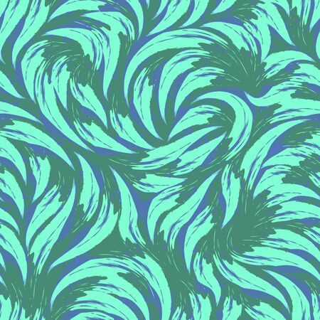 Bright vector abstract texture in trendy Aqua Menthe colors 2020. Pattern from strokes of turquoise paint for printing on textiles or wrapping paper.