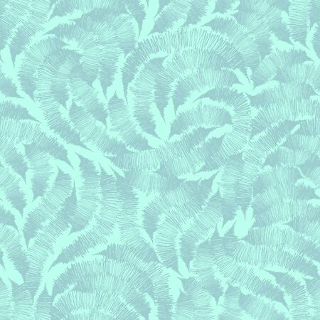Seamless turquoise texture from randomly drawn lines by the handle. Pattern for curtain fabrics or packaging