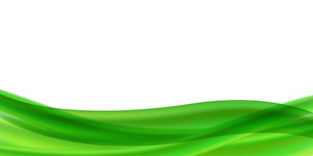 Horizontal vector abstract flyer or banner with place for text. Abstract background with green streams of liquid on a white background. Gradient mesh with transparency. Blank for advertising. Vektorgrafik