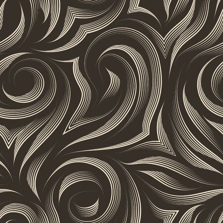 seamless texture on a brown background with beige lines of the handle. Pattern for fabrics or packaging. Backdrop for the site in pastel colors. Stok Fotoğraf