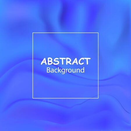 Vector blue liquid color background design with smooth waves and streaks. Futuristic gradient. Abstract background for banner flyer or brochure. Landing page template. Illustration