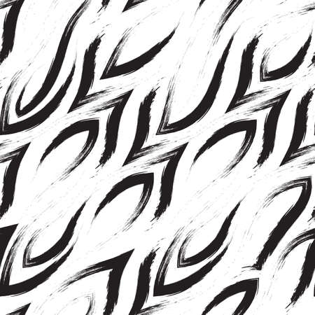 Seamless vector pattern of corners and smooth lines. Geometric abstract pattern of brush strokes. Print for fabric or wrapping paper. Illusztráció