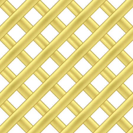 Vector seamless pattern of gold intersecting diagonal ribbons. 일러스트
