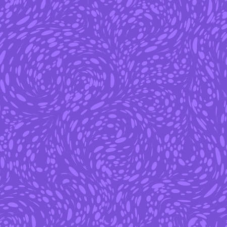 Seamless violet vector texture for decorating dots or circles spinning fabric or paper in the form of loops and spirals. 向量圖像