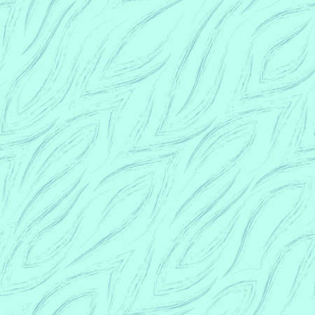 Seamless vector turquoise pattern of lines with sharp corners smoothly flowing into each other isolated on a blue background. Print for fabric or wrapping paper Stock Illustratie